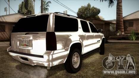 Chevrolet Suburban Plateada para GTA San Andreas left