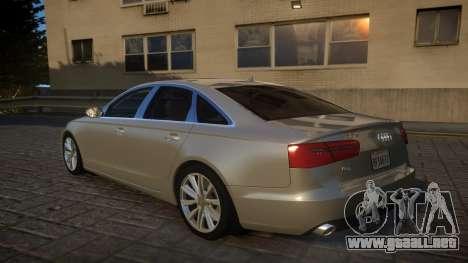 Audi A6 2012 v1.0 para GTA 4 Vista posterior izquierda