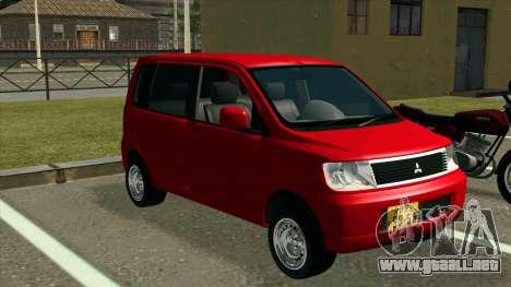 Mitsubishi eK Wagon para la visión correcta GTA San Andreas