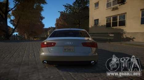 Audi A6 2012 v1.0 para GTA 4 visión correcta