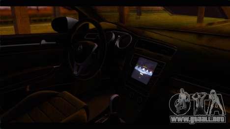 Volkswagen Golf 7 para la visión correcta GTA San Andreas