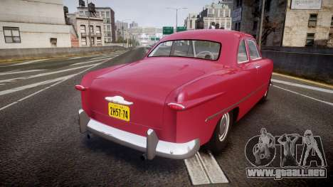 Ford Business 1949 v2.2 para GTA 4 Vista posterior izquierda
