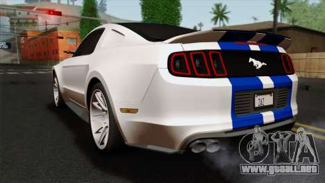 Ford Shelby 2014 para GTA San Andreas left