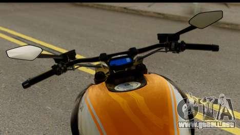 Ducati Diavel 2012 para GTA San Andreas vista posterior izquierda