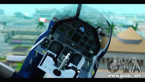 Beechcraft T-6 Texan II Royal Canadian Air Force para la visión correcta GTA San Andreas