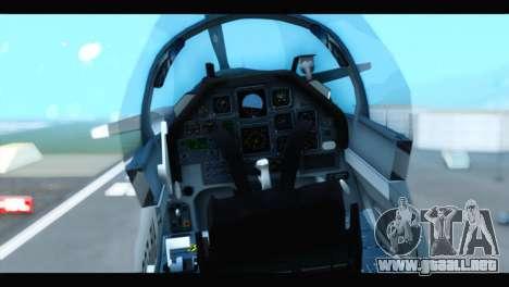 Beechcraft T-6 Texan II US Air Force 3 para GTA San Andreas vista hacia atrás