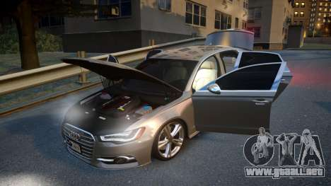 Audi S6 v1.0 2013 para GTA 4 vista lateral
