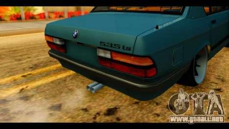 BMW 535is para GTA San Andreas vista hacia atrás