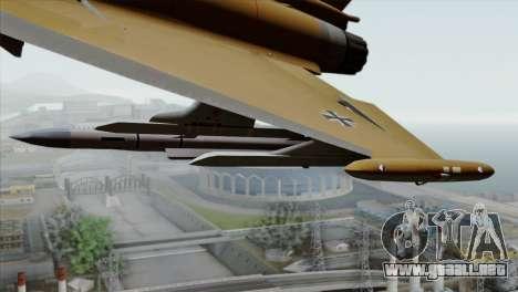 Eurofighter Typhoon Tropical Camo para la visión correcta GTA San Andreas