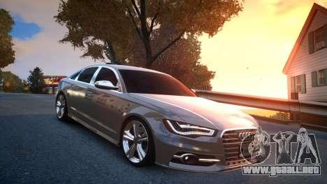 Audi S6 v1.0 2013 para GTA 4 vista hacia atrás