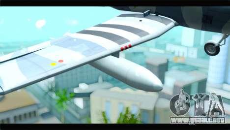 Beechcraft T-6 Texan II United States Air Force para la visión correcta GTA San Andreas