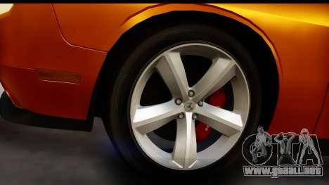 Dodge Challenger SRT8 2009 para GTA San Andreas vista hacia atrás