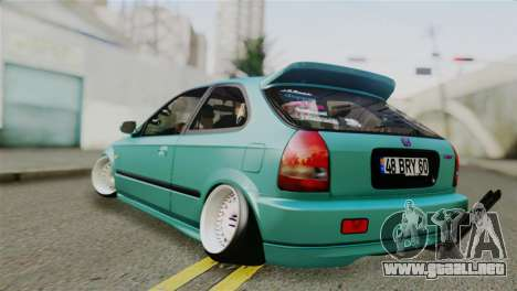 Honda Civic 1.4 Hatcback para GTA San Andreas left