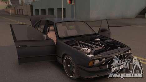 BMW 525i E34 2.0 para GTA San Andreas vista hacia atrás