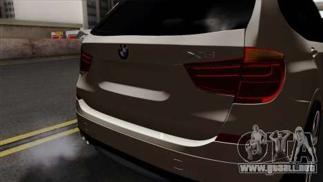 BMW X3 F25 2012 para GTA San Andreas vista hacia atrás