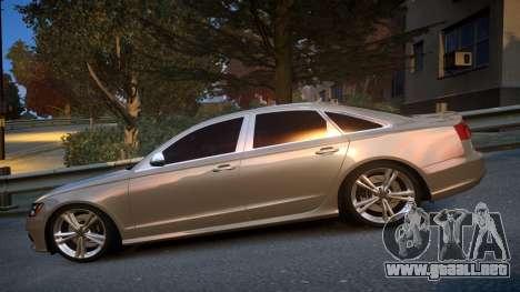 Audi S6 v1.0 2013 para GTA 4 left
