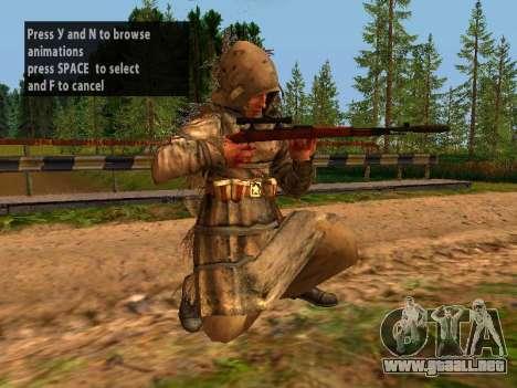 Soviética De Francotirador para GTA San Andreas novena de pantalla