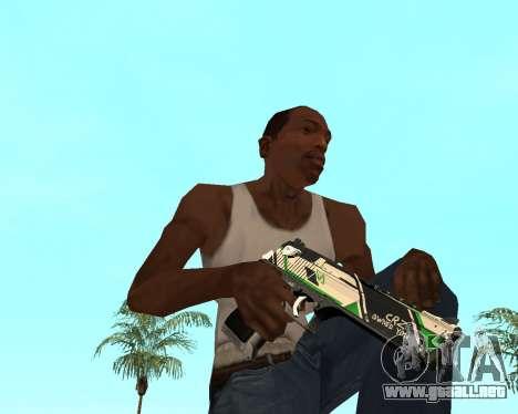 Green Pack Asiimov CS:GO para GTA San Andreas séptima pantalla