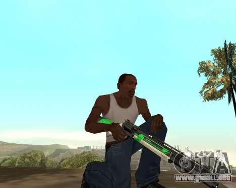 Green Pack Asiimov CS:GO para GTA San Andreas quinta pantalla