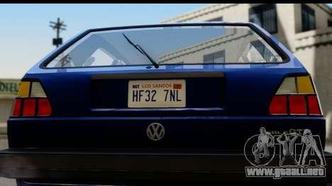 Volkswagen Golf Mk2 para la visión correcta GTA San Andreas