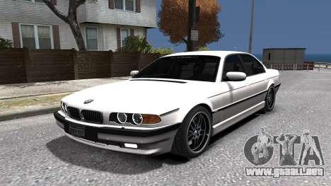 BMW 750i e38 1994 Final para GTA 4 vista lateral