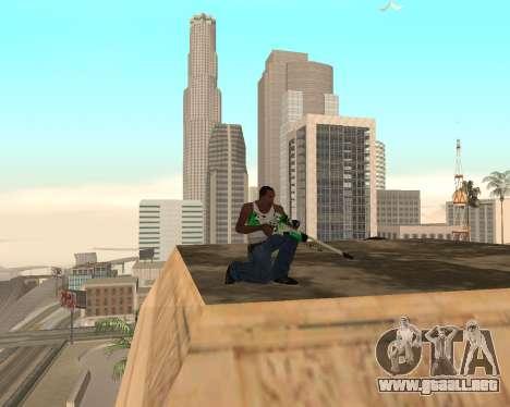 Green Pack Asiimov CS:GO para GTA San Andreas sucesivamente de pantalla