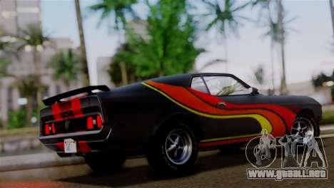 Ford Mustang Mach 1 429 Cobra Jet 1971 FIV АПП para GTA San Andreas interior