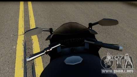 GTA 5 Carbon RS para GTA San Andreas vista posterior izquierda