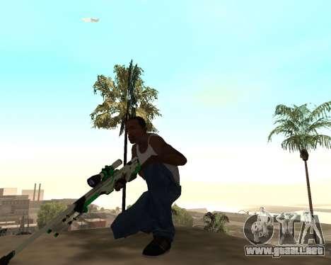 Green Pack Asiimov CS:GO para GTA San Andreas tercera pantalla