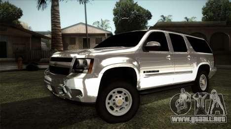 Chevrolet Suburban Plateada para GTA San Andreas