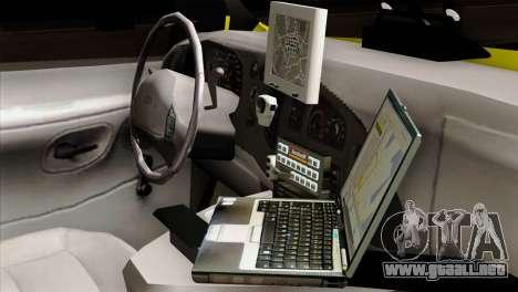 Ford F-450 2014 Quebec Ambulance para la visión correcta GTA San Andreas