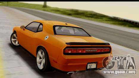 Dodge Challenger SRT8 2009 para GTA San Andreas left