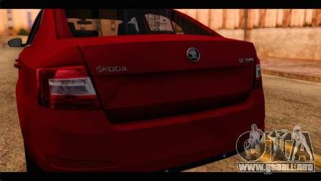 Skoda Octavia para GTA San Andreas vista hacia atrás