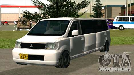 Mitsubishi EK Wagon Limo para GTA San Andreas vista hacia atrás