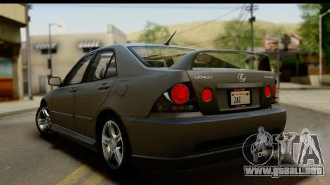 Lexus IS300 Tunable para vista inferior GTA San Andreas