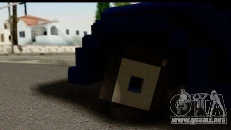 Minecraft Car para GTA San Andreas vista posterior izquierda