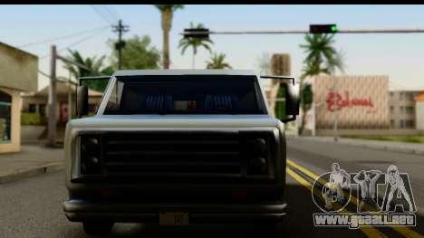 Burney Van para GTA San Andreas vista posterior izquierda