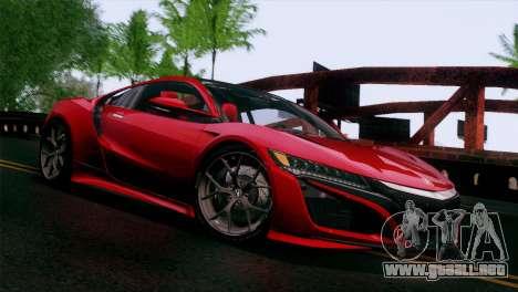Acura NSX 2016 v1.0 JAP Plate para GTA San Andreas