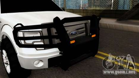Ford F-150 4X4 Off Road para GTA San Andreas vista posterior izquierda
