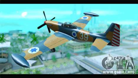 F-51D Israeli Air Force para GTA San Andreas left