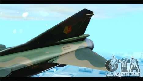 MIG-23ML Yuktobanian Air Force para GTA San Andreas vista posterior izquierda