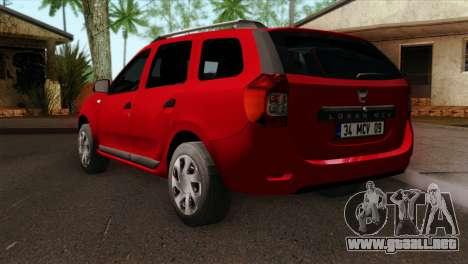 Dacia Logan MCV 2013 HQLM para GTA San Andreas left