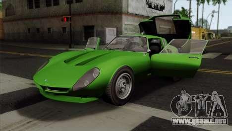 GTA 5 Grotti Stinger GT v2 SA Mobile para GTA San Andreas vista hacia atrás