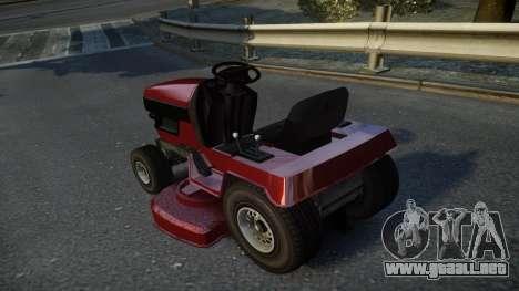 GTA V Lawn Mower para GTA 4 Vista posterior izquierda