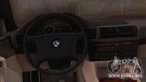 BMW 525i E34 2.0 para la visión correcta GTA San Andreas