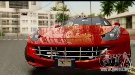 NFS Rivals Ferrari FF para GTA San Andreas vista posterior izquierda