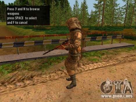 Soviética De Francotirador para GTA San Andreas séptima pantalla