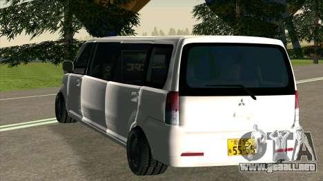 Mitsubishi EK Wagon Limo para la visión correcta GTA San Andreas