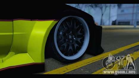 Nissan Skyline R34 BudMat para GTA San Andreas vista posterior izquierda