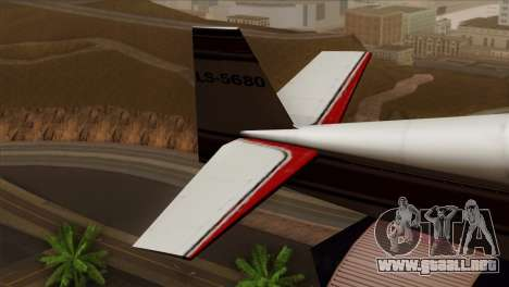 GTA 5 Stuntplane para GTA San Andreas vista posterior izquierda